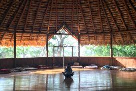 Mellory meditating in maloca 272x182