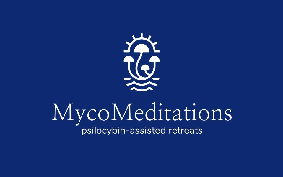 MycoMeditations logo white on blue 02